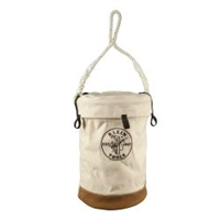 Leather Bottom Bucket with Top Klein-5104VT