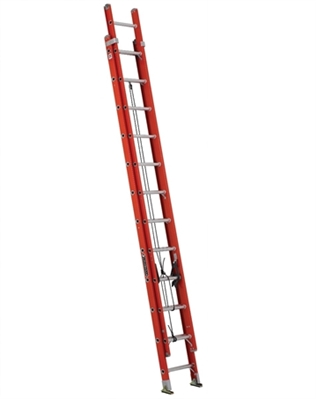 Fiberglass Extension Ladder With Cable Hooks Amp Pole Grip
