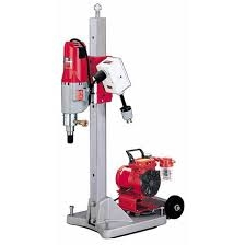 Diamond Coring Rig with Large Base Stand, Vac-U-Rig® Kit, Meter Box and Diamond Coring Motor 4120-22