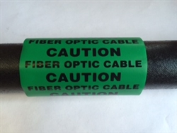 Caution Fiber Optic Cable tag ACP-DN-33-4