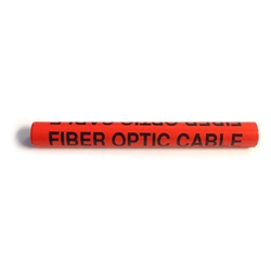 ACP-DN-33-4-ORANGE Caution Fiber Optic Cable tag