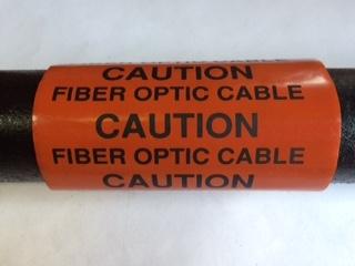 Caution Fiber Optic Cable Tag Acp Dn 33 4 Orange