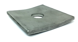 "Square Curved Washer 1/4"" x 2 1/4"" x 11/16"" Adsco CW1222-2 STAINLESS STEEL"
