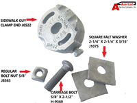 PERFECT FIT KIT J0522 GUY CLAMP - J1075 FLAT WASHER
