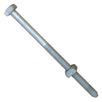 "Square Head Machine Bolt with Nut 3/4"" X 30""  H-J8930/ALL 8930"