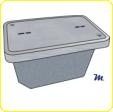 H-VAULT Martin 17 X 30 X 30 PC polymer concrete underground utility enclosure with cover.
