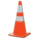 SPECIAL BUY! While They Last! HIWAY CONVERSIONS REFLECTIVE Traffic Orange Safety Cone Reflective 28""