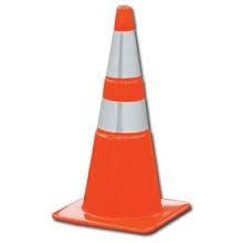 Traffic Orange Safety Cone Reflective 28""