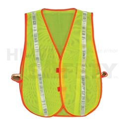 Hi-Way Safety Lime Vest Mesh