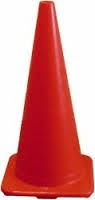 Traffic Orange Safety Cone Non Reflective 28""