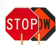 Stop and Slow Sign - Construction Stop Paddle