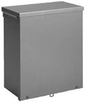 "Hoffman A24R2412NK NEMA 3R Polyester Powder Coated Galvanized Steel Pad-lockable Slip-on Screw Cover Enclosure 24"" X 24"" X 12"" ANSI 61 Gray"