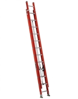 Fiberglass Extension Ladder with Cable Hooks & Pole Grip 24' Louisville FE3224-E03