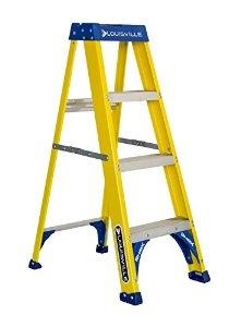 4 39 fiberglass standard step ladder louisville fs2004. Black Bedroom Furniture Sets. Home Design Ideas