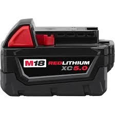 Milwaukee 48-11-1850 M18 REDLITHIUM XC 5.0 Single