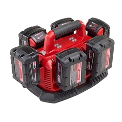 BATTERY CHARGER SEQUENTIAL MILWAUKEE M18 6 BAY 48-59-1806
