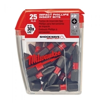 MIlwaukee 48324604 Phillips Shockwave #2 Impact Duty Insert Bits 1""