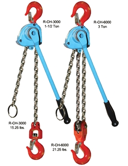 Reliable R-CH 3000 Chain Hoist  1  1/2 Ton