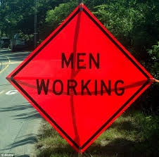 "Men Working - 48"" x 48"" Super-bright SIGNUP MW48SB"