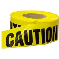 "TYTAN BT310002CAUT 3"" X 1000' Yellow Barricade ""Caution"" Tape"