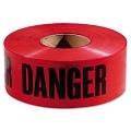 "TYTAN BT3300BDANGER 3"" X 300' Red Barricade ""Danger"" Tape"