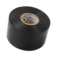 "All Weather Telephone Vinyl Plastic BLACK Tape 1-1/2"" 44ft"