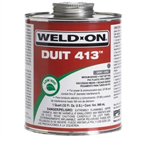 PVC Cement 1 Quart Gray 12089 Weld-On Duit 413