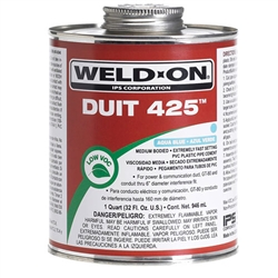 PVC Cement 1 Quart Blue 12092 Weld-On Duit 425